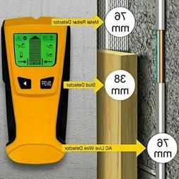 Floureon 3 in 1 LCD Stud Center Finder AC Live Wire Detector