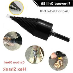 Firewood Machine Wood Cone Reamer Punch Driver Bit For Elect